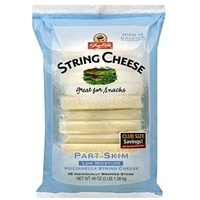 Shoprite String Cheese Mozzarella, Part Skim, Club Size Food Product Image