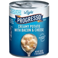 Progresso Light Creamy Potato with Bacon & Cheese Soup Food Product Image