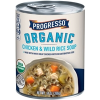 Progresso Organic Chicken & Wild Rice Soup 14 oz. Can Food Product Image