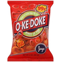 O-Ke-Doke Onion Rings Flavored, Rings Of Fire Food Product Image