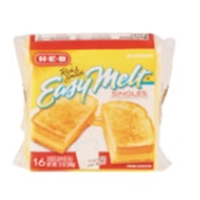 H-E-B Easy Melt Cheese Slices Food Product Image
