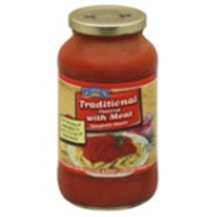Hill Country Fare Traditional Flavored with Meat Spaghetti Sauce Food Product Image