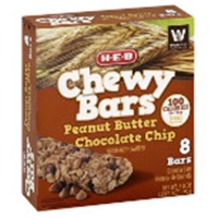 H-E-B Chewy Peanut Butter Chocolate Chip Granola Bars Food Product Image