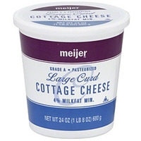 Meijer Cottage Cheese Large Curd, 4% Milkfat Min. Food Product Image
