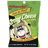 Schnucks String Cheese 100% Natural 12 Oz Food Product Image