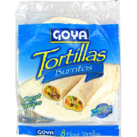 Goya Tortillas Flour, Burritos Food Product Image