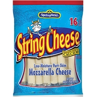 Springfield String Cheese Mozzarella 16 Ct Food Product Image