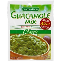 Concord Foods Classic Guacamole Mix Food Product Image