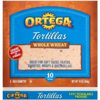 Ortega Whole Wheat Tortillas 10 Count Food Product Image