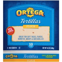 Ortega Soft Flour Tortillas Food Product Image