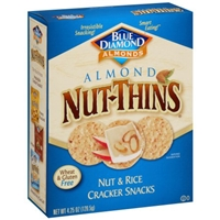 Blue Diamond Almonds Nut-Thins Nut & Rice Cracker Snacks Almond Food Product Image