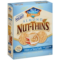 Blue Diamond Almonds Nut-Thins Nut & Rice Cracker Snacks Hint of Sea Salt Food Product Image