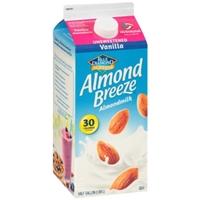 Blue Diamond Almonds Almond Breeze Almondmilk Vanilla Unsweetened Food Product Image