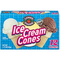 Lowes Foods Ice Cream Cones 12 Ct Food Product Image