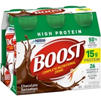 Boost High Protein Chocolate Nutritional Energy Drink - 6 Pk Food Product Image
