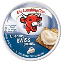 The Laughing Cow Original Spreadable Cheese Wedges Creamy Swiss - 8 Ct Food Product Image