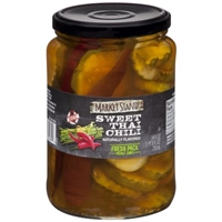 Market Stand Sweet Thai Chili Fresh Pack Pickle Chips 24 fl. oz. Jar Food Product Image