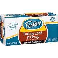 Festive Turkey Loaf & Gravy Food Product Image