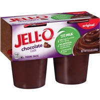 JELL-O Pudding Snacks Chocolate - 4 CT Food Product Image