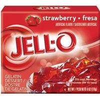 Jell-O Gelatin Dessert Strawberry Food Product Image