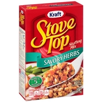 Kraft Stove Top Stuffing Mix Savory Herbs Food Product Image