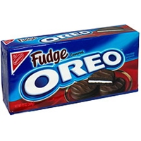 Oreo Chocolate Sandwich Cookies Fudge Covered Product Image