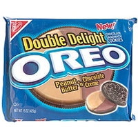 Oreo Chocolate Sandwich Cookies Peanut Butter N' Chocolate Creme Product Image