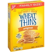 Nabisco Original Family Size Wheat Thins Crackers Food Product Image