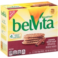 Nabisco belVita Breakfast Biscuits Cinnamon Brown Sugar - 5 CT Food Product Image