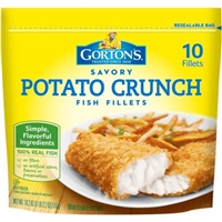 Gorton's Savory Potato Crunch Fish Fillets - 10 CT Food Product Image
