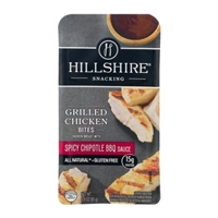 Hillshire Snacking Grilled Chicken Bites Spicy Chipotle BBQ Sauce Food Product Image