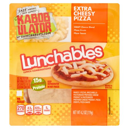 Lunchables Extra Cheesy Pizza Food Product Image