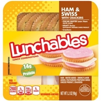 Oscar Mayer Lunchables Ham Swiss with Crackers Lunch Combinations Food Product Image