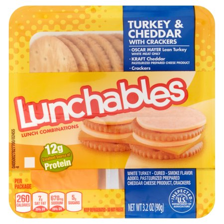 Lunchables Turkey & Cheddar Food Product Image