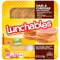 Oscar Mayer Lunchables Ham+Cheddar with Crackers Lunch Combinations Food Product Image
