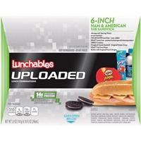 Lunchables Uploaded 6-Inch Ham & American Sub Sandwich Lunch Combination Food Product Image