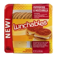 Lunchables Pepperoni & Mozzarella Food Product Image