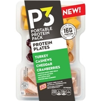 Oscar Mayer P3 Portable Protein Pack Turkey, Cashews, Cheddar with Cranberries, 3.2 oz Food Product Image