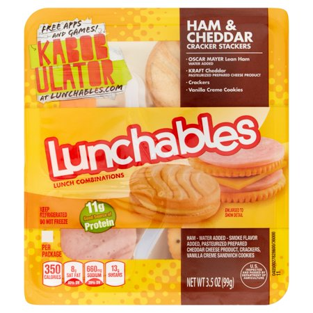 Lunchables Lunch Combinations Ham & Cheddar Food Product Image