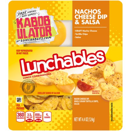 Lunchables Lunch Combinations Nachos Cheese Dip & Salsa Food Product Image