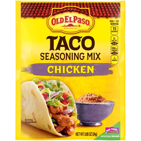 Old El Paso Chicken Taco Seasoning Mix 0.85 oz Food Product Image
