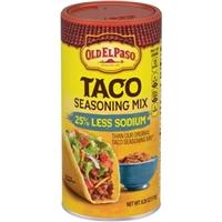 Old El Paso 25% Less Sodium Taco Seasoning Mix, 6.25 oz Food Product Image