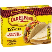 Old El Paso Taco Shells Crunchy White Corn - 12 CT Food Product Image