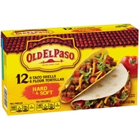 Old El Paso Taco Shells Hard & Soft - 12 CT Food Product Image
