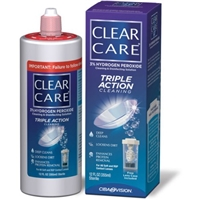 Clear Care Cleaning & Disinfecting Solution Triple Action Cleaning Food Product Image