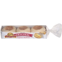 Natures Grain Original English Muffins, 6 count, 12 oz Food Product Image