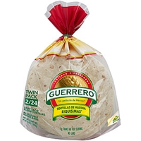 Guerrero Tortillas Flour Soft Taco Twin Pack 48 Ct Allergy And Ingredient Information