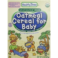 Healthy Times Organic Baby Cereal, Whole Grain Oatmeal Cereal For Baby Food Product Image