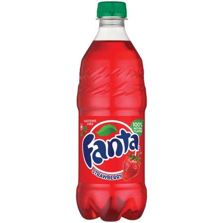 Fanta Strawberry Soda 20 Oz Food Product Image