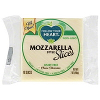 Follow Your Heart Cheese Alternative Dairy Free, Slices, Mozzarella Style Food Product Image